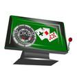 online gambling symbol vector image