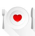 Valentine Love Plate vector image