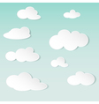abstract background with white paper clouds vector image vector image