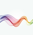 abstract color curved lines background vector image vector image
