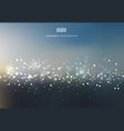 abstract gold and silver bokeh with sky background vector image vector image