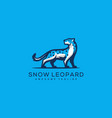 abstract snow leopard design concept template vector image vector image