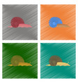 assembly flat shading style snail vector image vector image