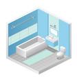 bathroom minimalistic vector image
