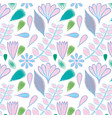 beautiful color floral pattern background vector image vector image