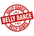 belly dance round red grunge stamp vector image vector image