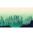 Big urban silhouettes on green backgrounds vector image vector image