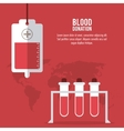 blood bag tube donation icon graphic vector image vector image