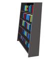 bookshelf library and bookstore cartoon gra vector image