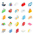 business applications icons set isometric style vector image vector image