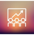 Business growth thin line icon vector image vector image