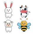 cartoon animals cute design vector image