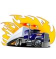 Cartoon Semi Truck Oneclick repaint vector image vector image