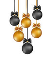 christmas background with gold and black evening vector image vector image