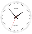 Classic clock without numbers placed on white vector image vector image