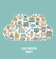 cloud computing technology cloud computing vector image vector image