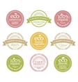 Collection of 6 badges in retro style vector image vector image