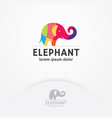 colorful elephant logo vector image vector image