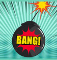 comic explosion dynamic concept vector image vector image