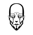 contour pattern of a cyborg vector image vector image
