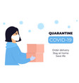 covid19-19 quarantine coronavirus epidemic a girl vector image vector image