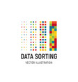 data sorting big data base vector image