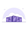 data storage concept banner flat style vector image vector image