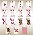 Diamonds Playing Cards Set vector image