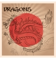 Dragon animal cartoon design vector image vector image