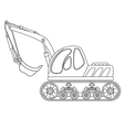Dredge toy outlined vector image