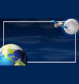 earth on space border vector image