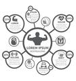 Fitness bodybuilding sport infographics vector image vector image