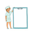 flat woman doctor in medical clothing vector image vector image