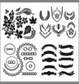 foliage and chains ribbons emblems and wreaths vector image