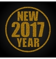 Gold Sequins New 2017 Year Star Circle vector image