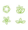 green leaf ecology nature element vector image vector image