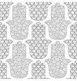 Hamsa hand black and white seamless pattern for