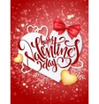 happy valentines day lettering with paper vector image
