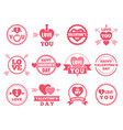 heart lips and other symbols of lovers vector image vector image