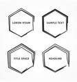 hexagonal frame in scribble and doodle style vector image vector image