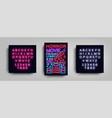 horror movie postcard typography design neon vector image