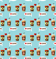 hot coffee and cold coffee seamless pattern vector image vector image
