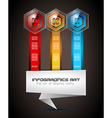 Infographics complex layout with option buttons vector image vector image