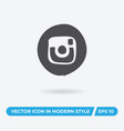 instagram logo icon simple car sign vector image vector image