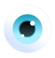 Isolated cartoon blue eyeball icon vector image vector image
