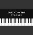 jazz concert poster design live music concert vector image