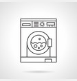 laundry services flat line icon vector image