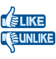Like Unlike Sign vector image vector image