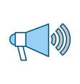 megaphone talk person vector image vector image