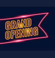 neon style grand opening banner design background vector image vector image